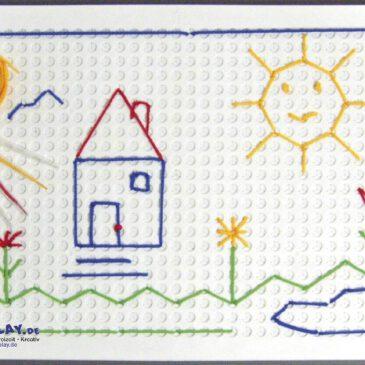 Mega-Pickboard Zum immer wieder neu Gestalten Auf dem ca. 50 x 35 cm großen Pickboard können Kinder ihrer Kreativität freien Lauf lassen. Mit dem Pickstift werden die 16 bunten Schnüre von Kreuzloch zu Kreuzloch eingepickt. Die Kreuzlöcher halten den Faden fest und das Motiv ist leicht wieder aufzulösen. Fördert die Konzentration und die Auge-Hand-Koordination. - Kisus e.K. - Kinder, Spiel und Spaß - Ihr Fach-Großhandel für Kindergartenausstattung, Spielwaren und Bastelbedarf