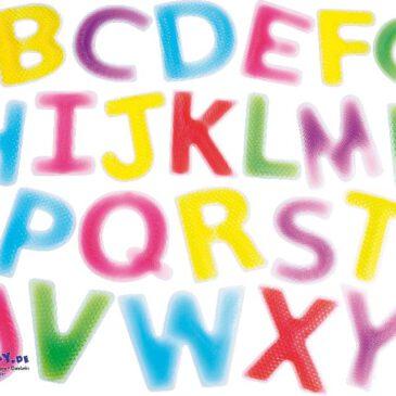 Flüssigkeits-ABC strukturiert Beidseitig strukturiert oder genoppt ... sind die mit Flüssigkeit gefüllten Großbuchstaben - da möchte man gar nicht mehr loslassen, so interessant fühlt es sich an. Zum Lernen des Alphabetes, Legen von Wörtern, zum Sortieren nach Farben und für sensorische Erfahrungen. - Kisus e.K. Kinder, Spiel und Spaß - Fach-Großhandel für Kindergartenausstattung, Spielwaren und Bastelbedarf