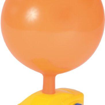 Ballon-Auto Flotter flitzer mit Luftantrieb Über das Auspuff-Röhrchen wird der Ballon aufgeblasen. Nun ist das Auto startklar für eine Spritztour. - Kisus e.K. - Kinder, Spiel und Spaß - Fach-Großhandel für Kindergarten, KITA, Schule und Hort